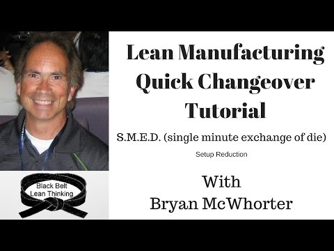 Lean Manufacturing, Quick Changeover Tutorial (S.M.E.D)