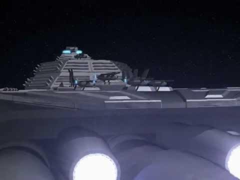 Missile ports on a battleship