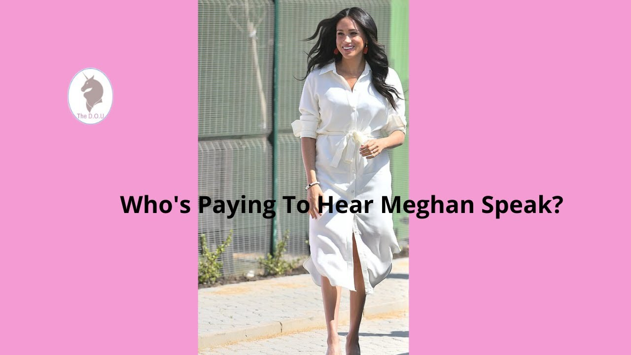 Who's Paying to Hear Meghan Speak?