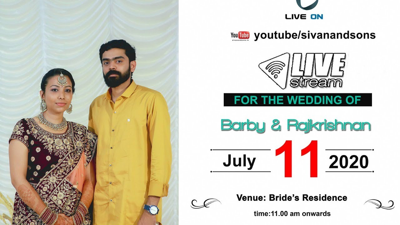 | Barby + Rajkrishnan | Wedding | Live Streaming