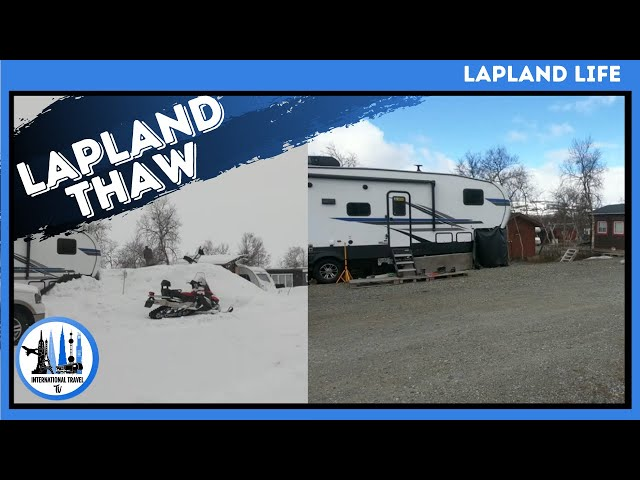 Time lapse of lapland thawing 45 days Finland, Kilpisjarvi.