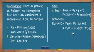 0630 El proceso de Poisson no homogéneo