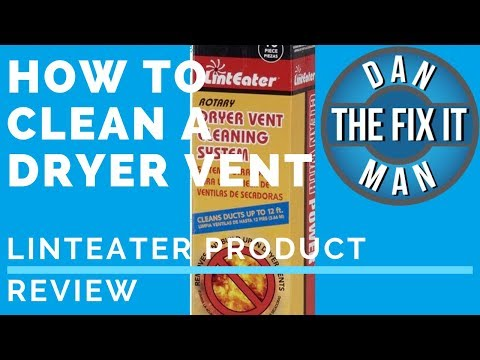 HOW TO CLEAN A DRYER VENT - Linteater Dryer Vent Cleaning System - DIY