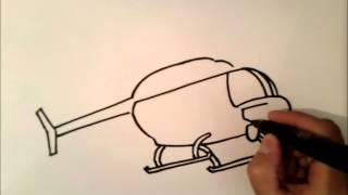 come disegnare un elicottero cuore