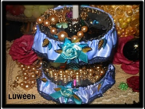 Creative jewelry stand from trash materials youtube for Create things from waste