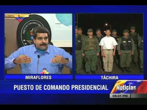 Presidente Maduro anuncia estado de excepción en frontera con Colombia por 60 días