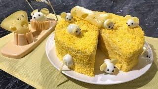 НОВОГОДНИЙ Салат Бунито, Мышки в сыре