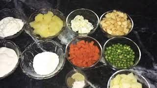Russian Salad - Most Easiest Recipe By Zaini's Kitchen