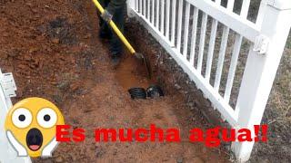 Como hacer un desague para aguas lluvias