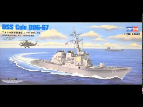 """Arleigh Burke Class DDG 1:700 USS Cole """"Premium"""" Model Ship Build in Pictures Dragon/Hobby Boss"""