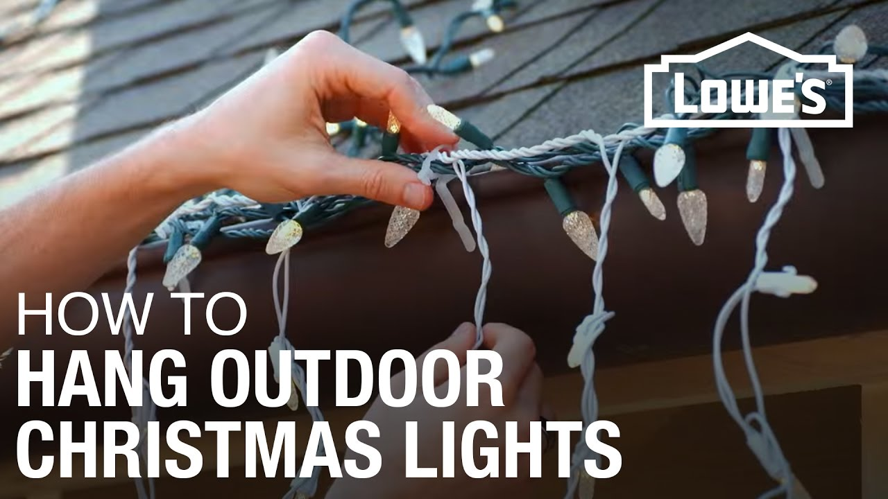 How to hang exterior christmas lights youtube - Large bulb exterior christmas lights ...