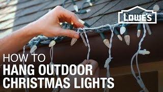 How To Hang Exterior Christmas Lights