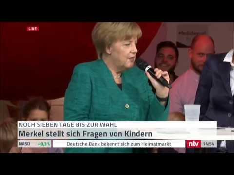 Angela Merkel stellt sich Kinderfragen (17.09.2017)