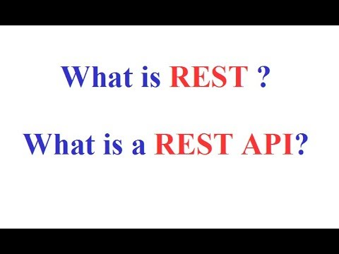 What is REST ? What is a REST API ?