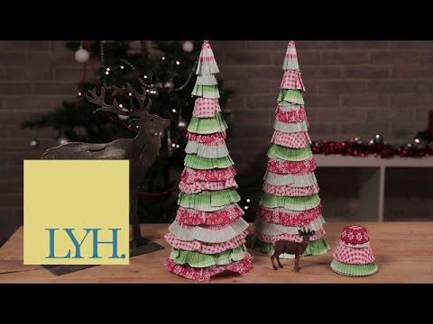Cupcake Wrapper Trees | Homemade Christmas S1E4/8