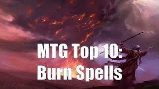MTG Top 10: Burn Spells