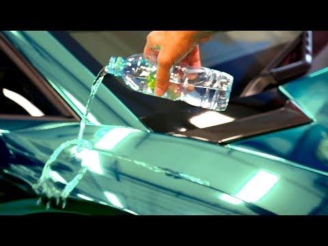 Testing Ceramic Coating on my Lamborghini Chrome Vinyl Wrap #Ad