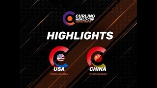 United States v China - Mixed Doubles - Highlights - Curling World Cup First Leg – Suzhou