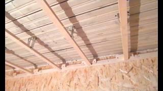 Монтаж потолка плитами OSB(, 2015-11-07T21:25:43.000Z)