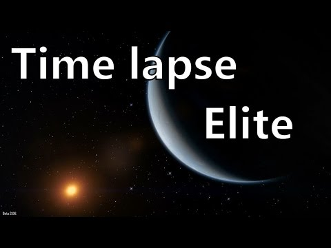 Time lapse Elite Dangerous - Stars planets moons eclipses transits rings orbit