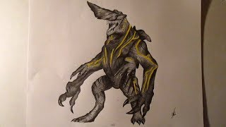 Kaiju KnifeHead Speed Drawing - Fan Art Pacific Rim HD