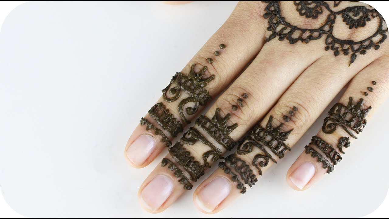 henna tutorial fr anfnger finger design 2 sanny kaur - Henna Muster Fur Anfanger