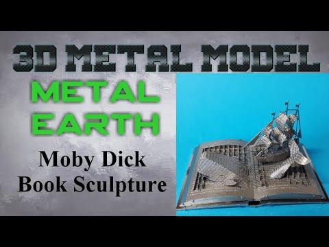 Metal Earth Build - Moby Dick Book Sculpture