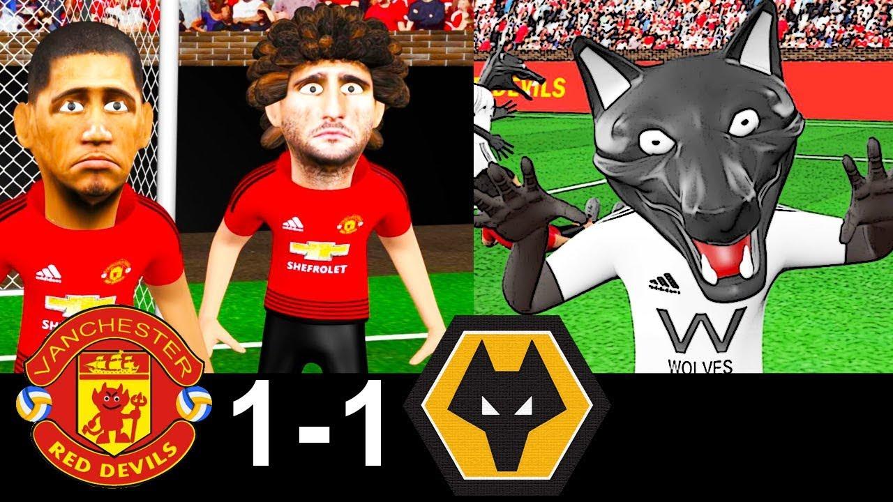 Man United vs Wolves 1-1 | Parody Goals | highlights | 22/09/2018 | ⚽ Fred ⚽ Moutinho - YouTube