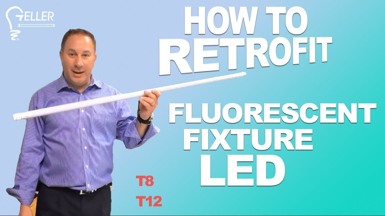 How To Retrofit A T8 Or T12 Fluorescent Fixture Led Geller Wiring Diagram For 2 Lamp Lighting