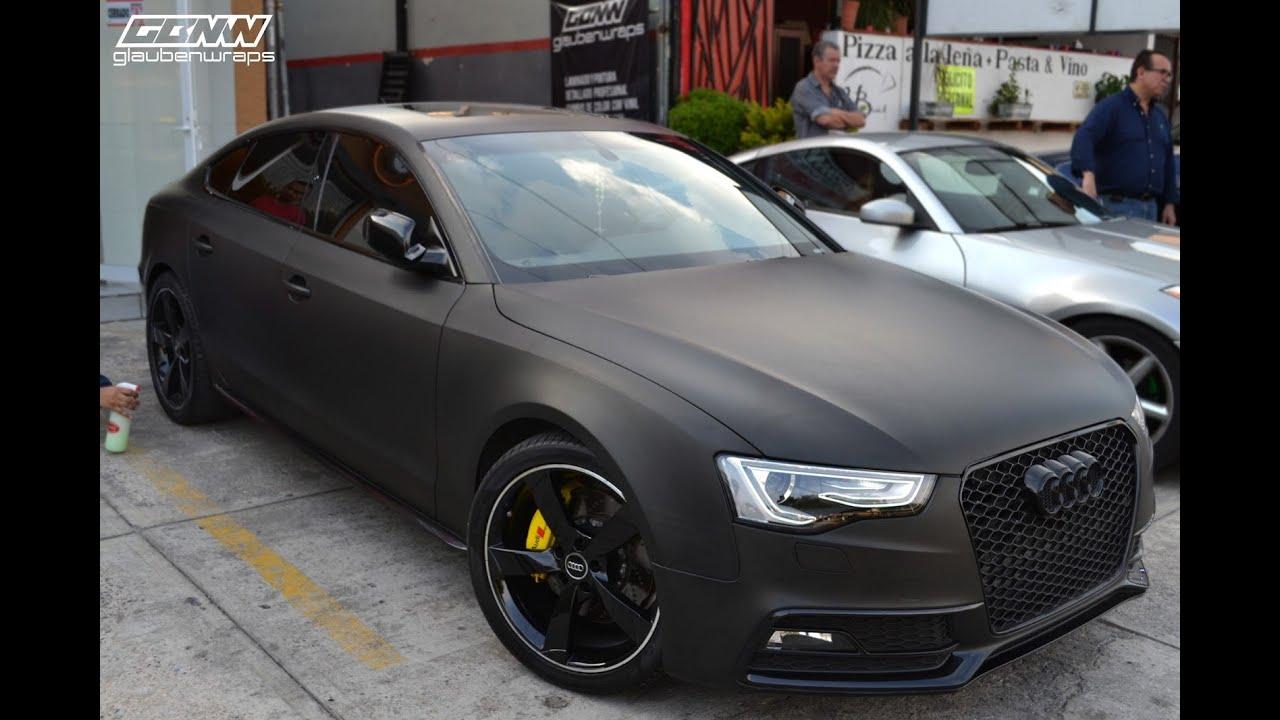 Forrado Con Vinil Full Wrap Audi A5 Sline Con Vinil Negro