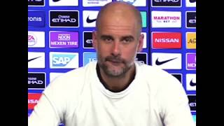 Pep's Funny Reaction Football Soccer Manager Guardiola Comedy Manchester City Press Conference