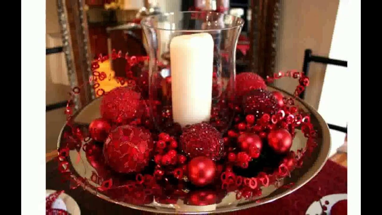 freyalados christmas table decor ideas youtube - Christmas Table Decoration Ideas Easy