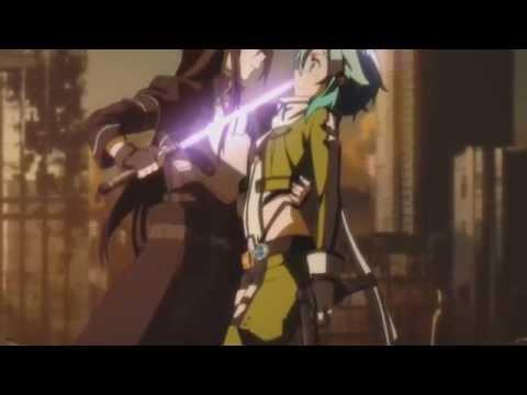 Sword Art Online II Scene -  Sinon and Kirito Dueling[Eng Sub]
