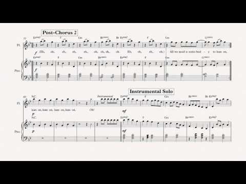 Flute Lean On Major Lazer Sheet Music Chords Vocals Youtube