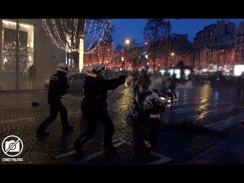 Acte 6 des Gilets Jaunes à Paris - un policier dégaine / 22 décembre 2018