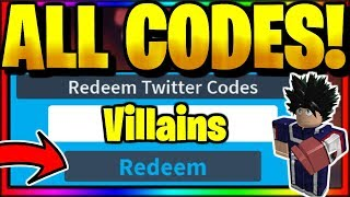*ALL* NEW SECRET OP WORKING CODES! Roblox Villains Online