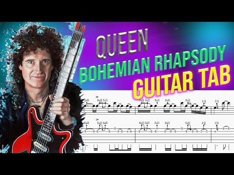 Solo TAB  Bohemian Rhapsody Guitar TAB + Slow Tempo Track