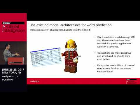O'Reilly AI Conference NYC 2017 - Deep learning applied to consumer transactions by Eric Greene