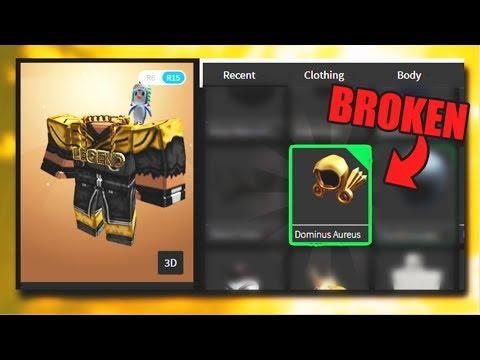 Roblox Dominus Aureus Roblox Scammed Me 600 000r Broken Dominus Aureus Youtube