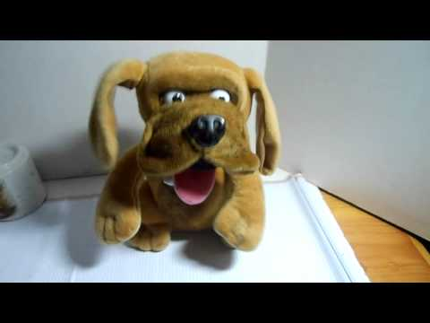 Animated Just for laughs Bulldog Plush brown puppy dog toy barks shakes laughs
