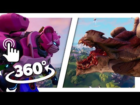 MONSTER vs MECH in VR! (Different Angles) | 360° Experience