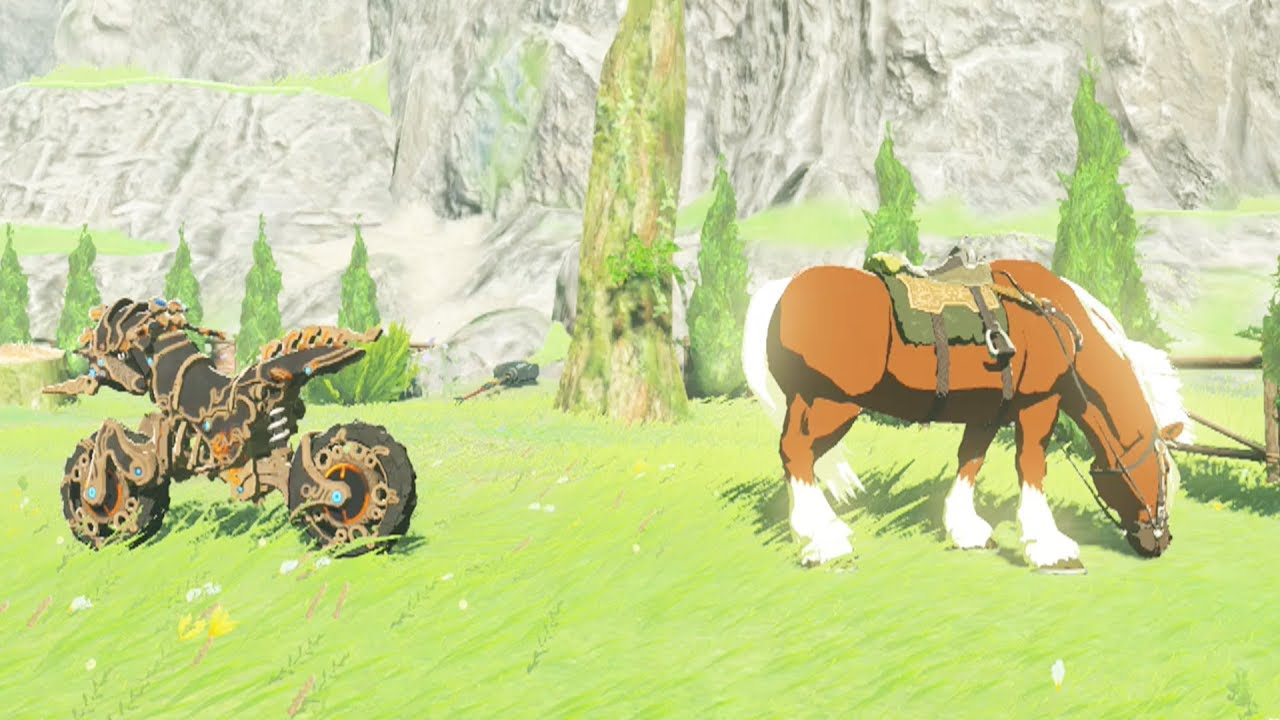 Zelda Breath Of The Wild Master Cycle: Master Cycle Zero Vs Epona! Whos Faster? Zelda Breath Of