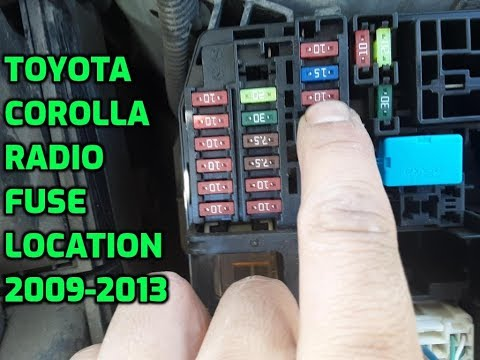 How To Locate Fuse Box In Toyota Corolla 2008 2009 2010 2011 2012 Youtube