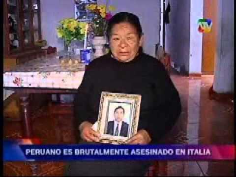 Peruano es asesinado en Italia Canal 9