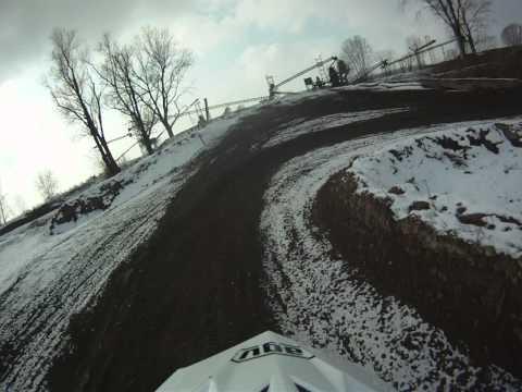 Pista motocross Cremona con neve
