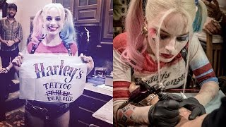"""Suicide Squad Give Each Other """"SKWAD"""" Tattoos"""