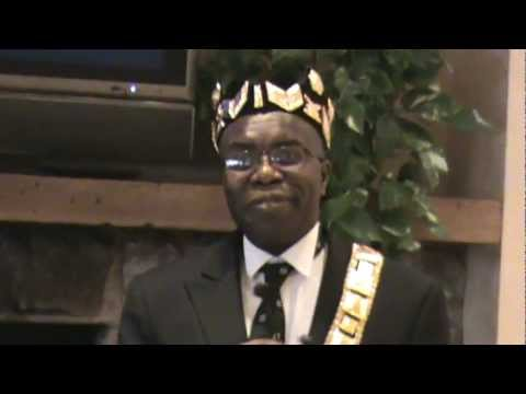 His majesty king f a ayi from the republic of togo speech youtube publicscrutiny Images