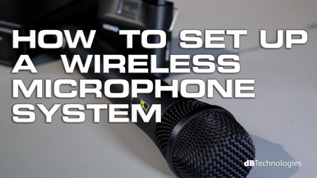 How to setup a wireless microphone system (basic)
