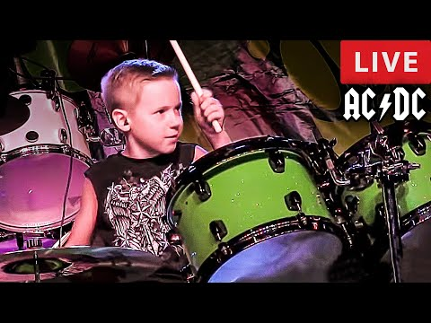Dirty Deeds Done Dirt Cheap, LIVE - 7 year old Drummer - Avery Drummer Molek (Drum Cover)