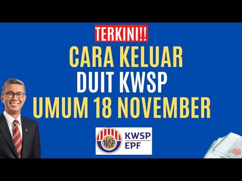 TERKINI!! CARA KELUAR DUIT KWSP UMUM 18 NOVEMBER 2020